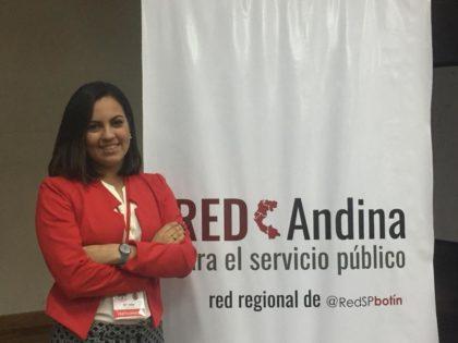 Valentina Borges asistió al II Encuentro de la Red Andina para el Servicio Público <br>como representante de Venezuela