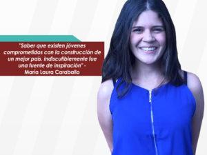 """María Laura Caraballo: """"Mi mejor experiencia en LIDERA <br>fue entender que todos tenemos una gran capacidad de <br>aportar"""""""