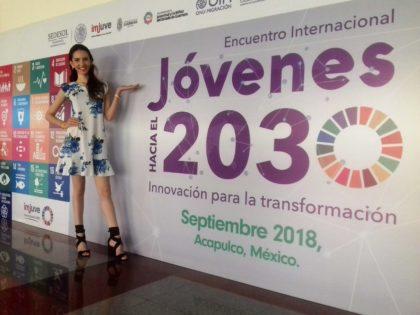 El Encuentro Internacional Jóvenes Hacia el 2030 contó con la presencia <br>de Oricia Domínguez, egresada de LIDERA 6