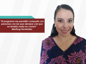 """Marihug Fernández: """"VLP me brindó la oportunidad de conocer una serie de<br>líderes en distintas áreas"""""""