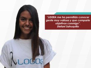 Stefani Sahuquillo: &#8220;Después de LIDERA, siento un compromiso mucho más <br>fuerte con mi país&#8221;