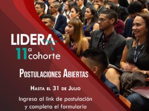 Postulaciones abiertas para la undécima cohorte del programa LIDERA