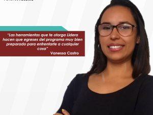 "Vanessa Castro: ""Lidera me ayudó a salir de mi zona de confort"""